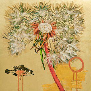Hung Liu, Dandelion with Fish, ed 1/9