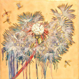 Dandelion with Dragonflies, E.V. 2/9 art for sale
