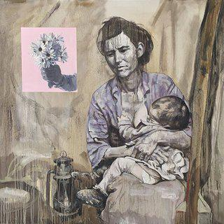 Hung Liu, Migrant Mother
