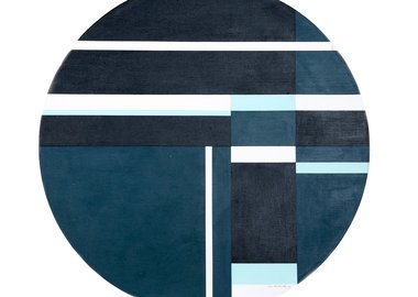 work by Ilya Bolotowsky - Blue Tondo