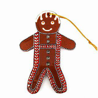 Gingerbread Man with Heart Suspenders and 5 Buttons art for sale