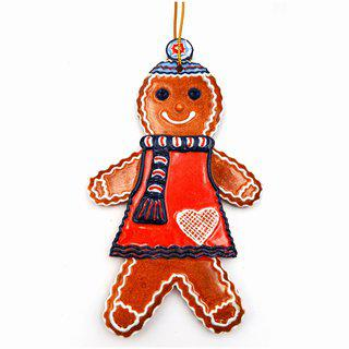 Gingerbread Man with Winter Hat, Scarf and Heart art for sale