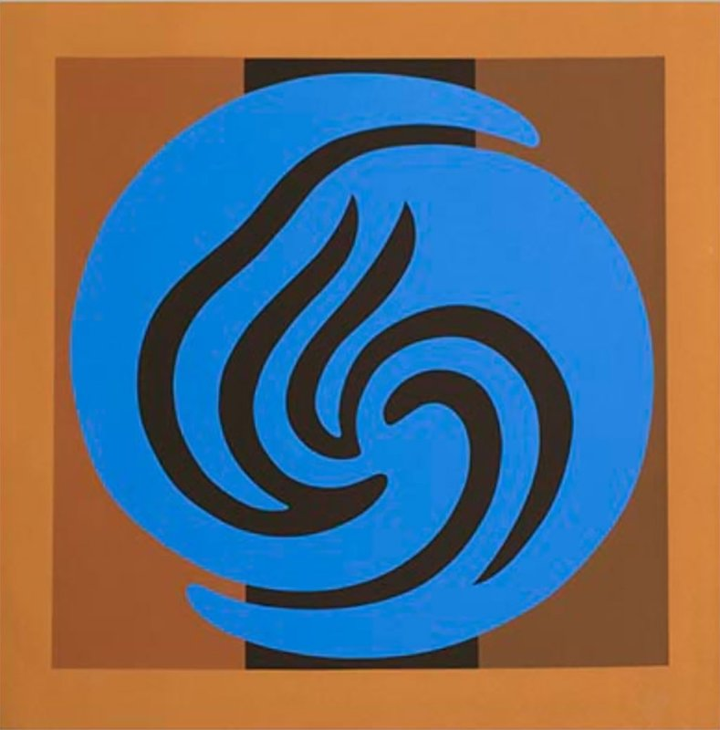 Jack Youngerman, Untitled  3 of 6 ( from the Blue / Brown Suite)