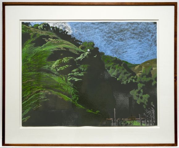 Jack Beal - Landscape Above Muir Beach, Work on Paper