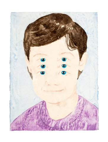 James Rielly - Six Eyes, Work on Paper