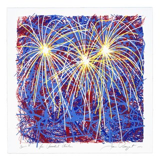Fireworks for President Clinton art for sale
