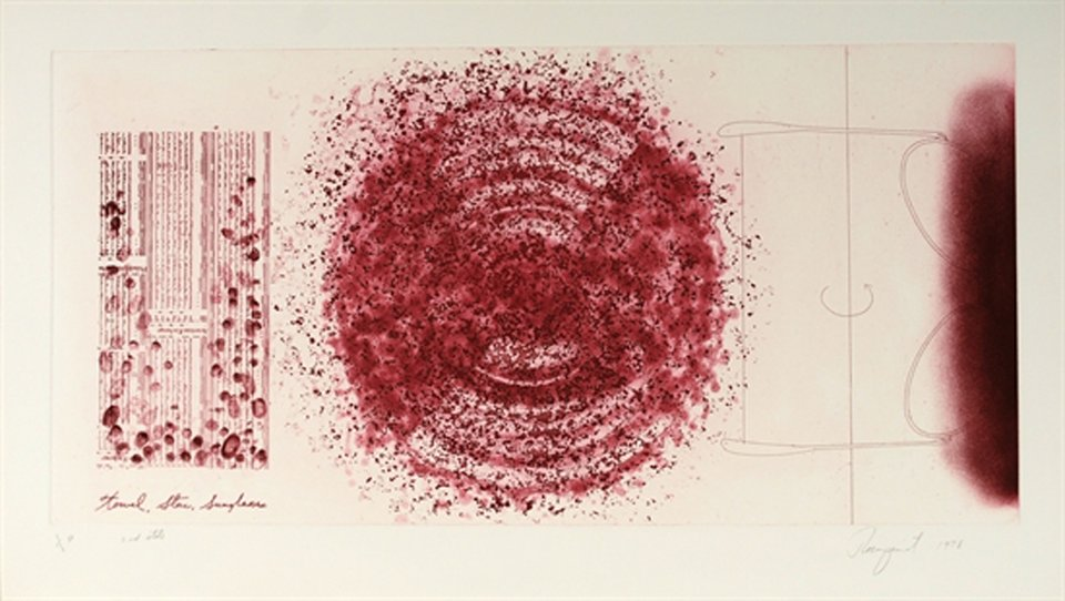 James Rosenquist, Towel, Star Sunglasses (2nd State)