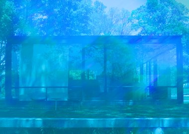 work by James Welling - Glass House 5905