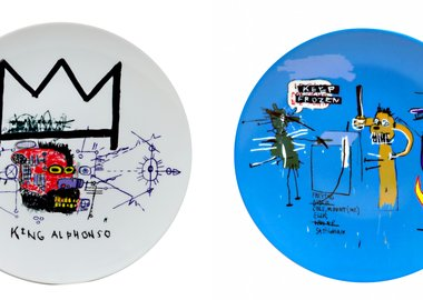 Jean-Michel Basquiat - Keep Frozen and King Alphonso Plate Set