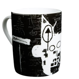 Black & White Set of 6 Mugs art for sale