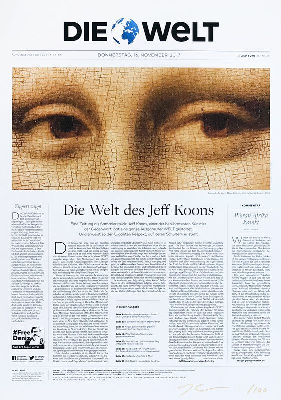 by jeff_koons - Untitled (Die Welt Newspaper – Collector's Edition)