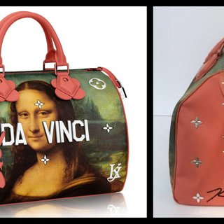 Mona Lisa Leonardo da Vinci Bag for Louis Vuitton (Hand Signed) art for sale