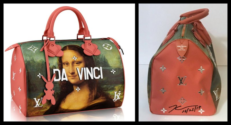 by jeff_koons - Mona Lisa Leonardo da Vinci Bag for Louis Vuitton (Hand Signed)