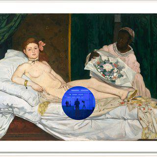Gazing Ball (Manet Olympia) art for sale
