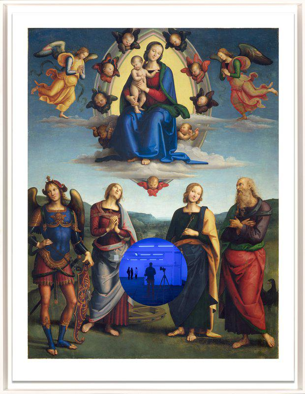 by jeff_koons - Gazing Ball (Perugino Madonna and Child with Four Saints)