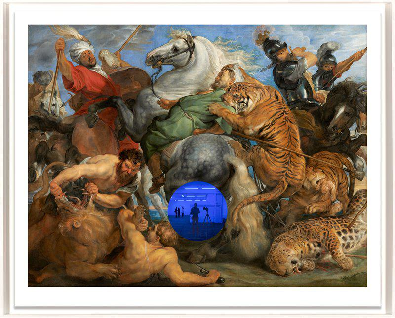 by jeff_koons - Gazing Ball (Rubens Tiger Hunt)