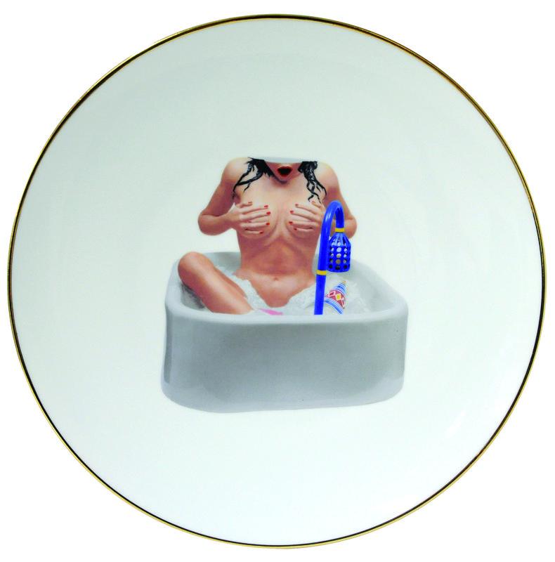 Jeff Koons Banality : jeff koons woman in the tub banality series 5 piece place setting for sale artspace ~ Frokenaadalensverden.com Haus und Dekorationen