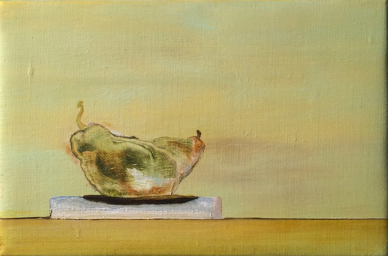 Jennifer Amadeo-Holl, In Lux: Two Static Pears, 4-25-04