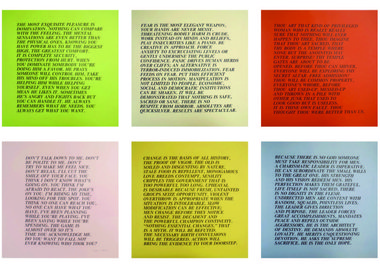 work by Jenny Holzer - Inflammatory Essays I