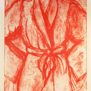 Jim Dine, Cream and Red Robe on a Stone