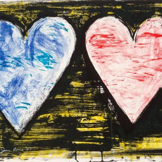 Two Hearts at Sunset art for sale