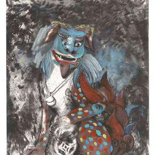 Fo Dog in Hell art for sale