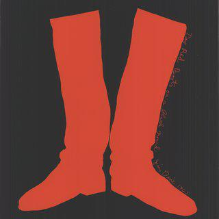 The red boots on a black ground, 1968 art for sale