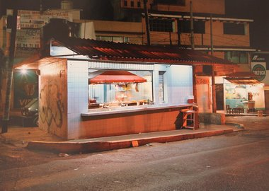 work by Jim Dow - All Night Taco Stand, Av. Gustavo Baz Prada, El...