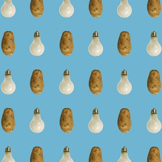(Potato/Lightbulb - Blue) art for sale