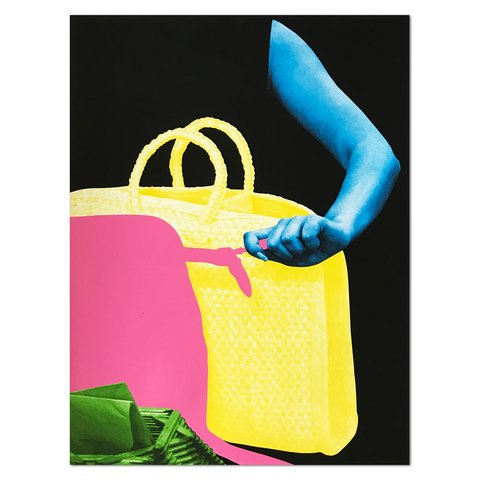 John Baldessari - Arm, Two Bags and Envelope Holder, Print