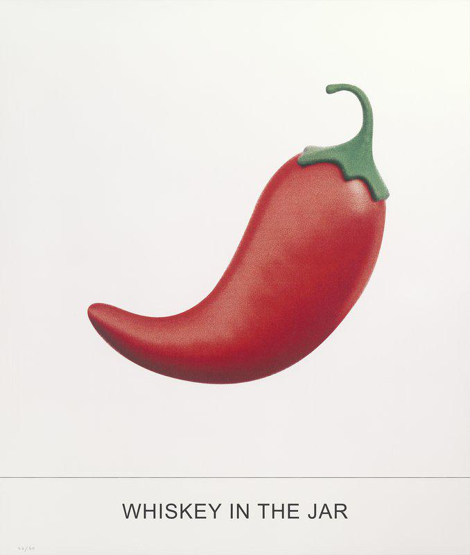 main work - John Baldessari, WHISKEY IN THE JAR