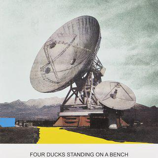 The News: Four Ducks Standing on a Bench... art for sale