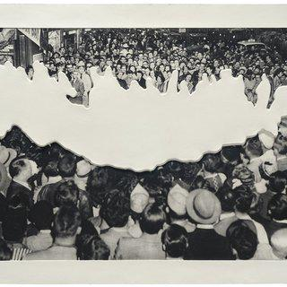 John Baldessari, Crowds with Shape of Reason Missing: Example 2