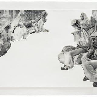 John Baldessari, Crowds with Shape of Reason Missing: Example 5