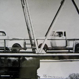 John Baldessari - Two Trucks/Two Decisions, Photograph