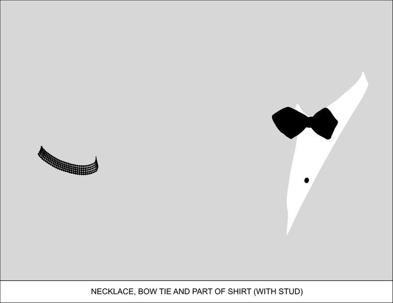 John Baldessari - Sediment:Necklace, Bow Tie, Part of Shirt (With ...