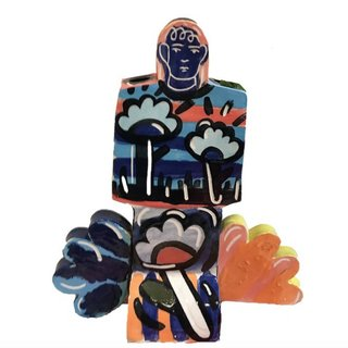 Figurine and Flower Vase art for sale