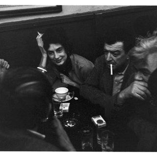 Phillip Guston (back of head), Charlotte Brooks, Jack Tworkov, Mercedes Matter, James Brooks, Giorgio Cavellon and Morton Feldman (in hat) at the Cedar Tavern art for sale
