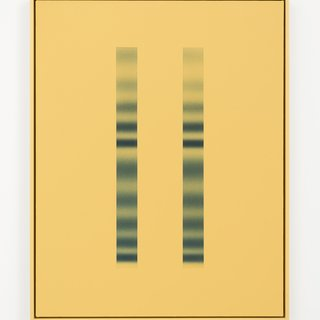 Double Slit (yellow) art for sale
