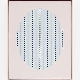 Oval with dots (Blue) art for sale