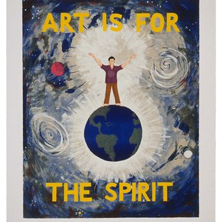 Jonathan Borofsky, Art is for the Spirit