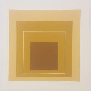 Josef Albers, White Lines Squares