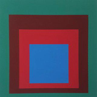 "Homage to the Square: Protected Blue (from ""Albers"") art for sale"
