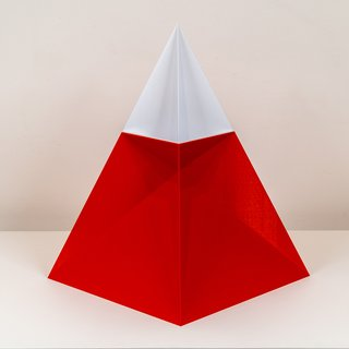 Josh Hughes, Nested Pyramid (Red and White)