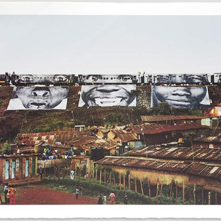 In Kibera Slum, Train Passage 1 art for sale