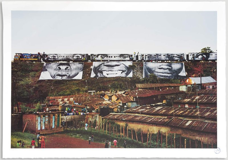by jr - In Kibera Slum, Train Passage 1
