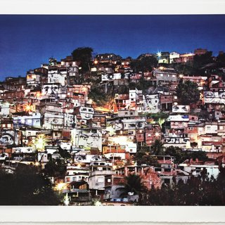 Action dans la favela Morro da Providencia, Nightview art for sale