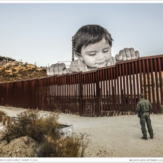 Giants, Kikito and the Border Patrol, Tecate, Mexico - USA poster art for sale