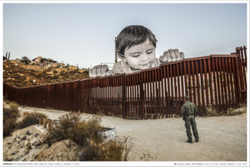 by jr - Giants, Kikito and the Border Patrol, Tecate, Mexico - USA poster