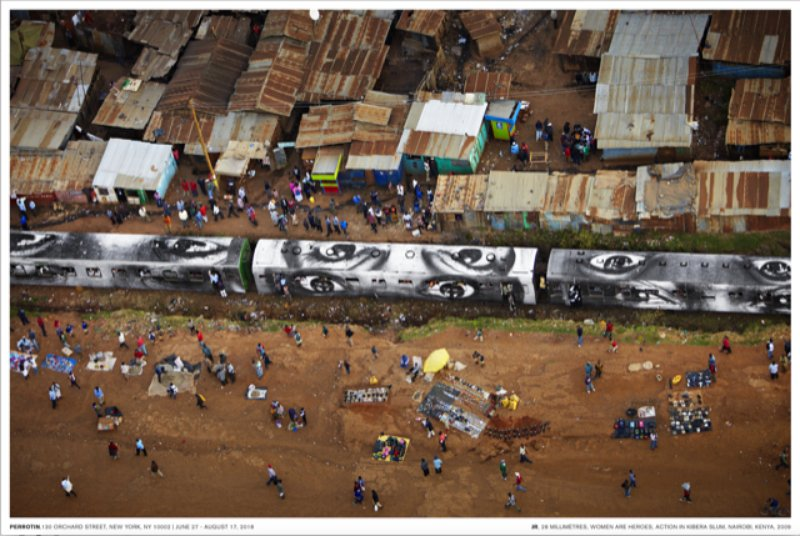 by jr - 28 MM, Women are Heroes, Action in Kibera Slum, Nairobi Kenya 2009 poster
